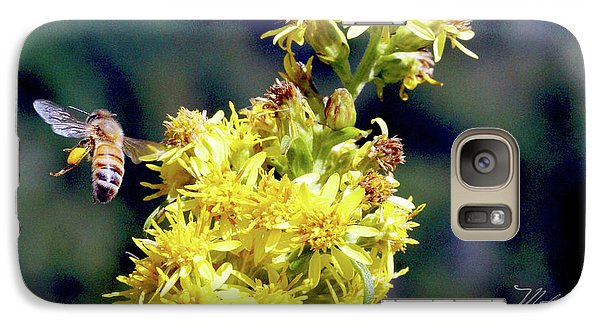 Galaxy Case featuring the photograph Bee On Goldenrod by Meta Gatschenberger
