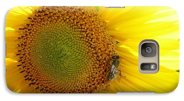 Galaxy Case featuring the photograph Bee On Sunflower by Jean Bernard Roussilhe