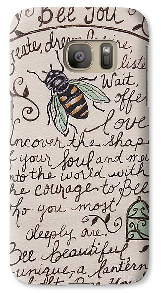 Galaxy Case featuring the painting Bee You by Elizabeth Robinette Tyndall