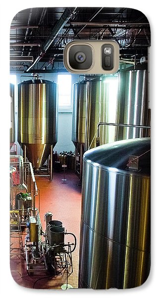 Galaxy Case featuring the photograph Beer Vats by Linda Unger