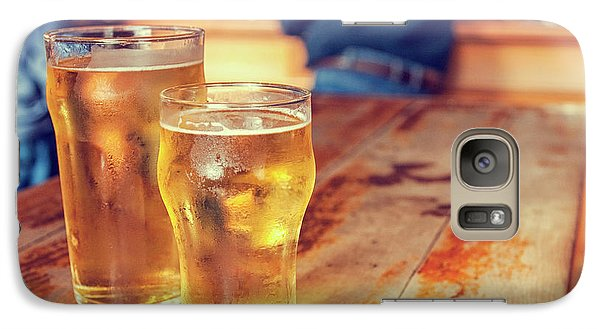 Galaxy Case featuring the photograph Beers In A Pub by Patricia Hofmeester