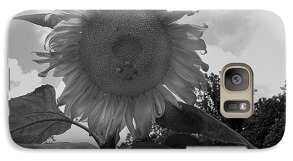 Galaxy Case featuring the digital art Bees On A Sunflower by Chris Flees