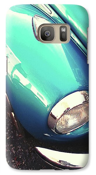 Galaxy Case featuring the photograph Beetle Blue by Rebecca Harman