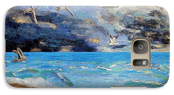 Galaxy Case featuring the painting Before The Storm by Vicky Tarcau