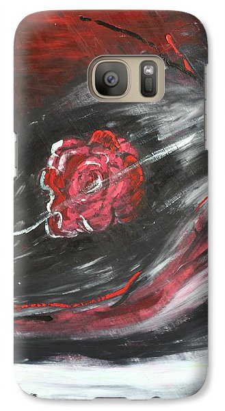 Galaxy Case featuring the painting Beggining by Sladjana Lazarevic