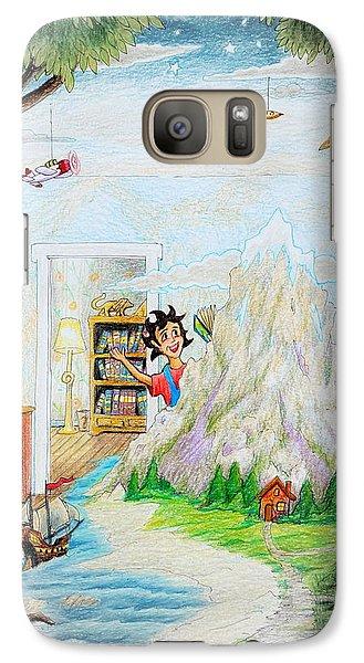 Galaxy Case featuring the painting Beginning A Book by Matt Konar