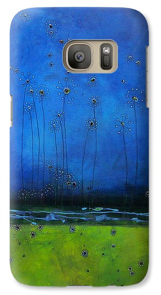 Galaxy Case featuring the painting Beginnings by Nicole Nadeau