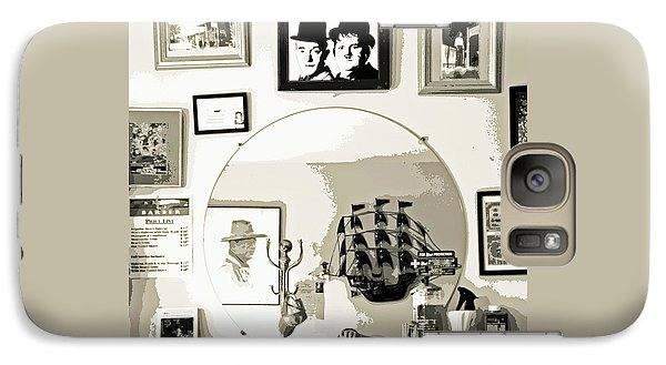 Galaxy Case featuring the photograph Behind The Barber Chair by Joe Jake Pratt