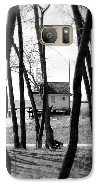 Galaxy Case featuring the photograph Behind The Trees by Valentino Visentini