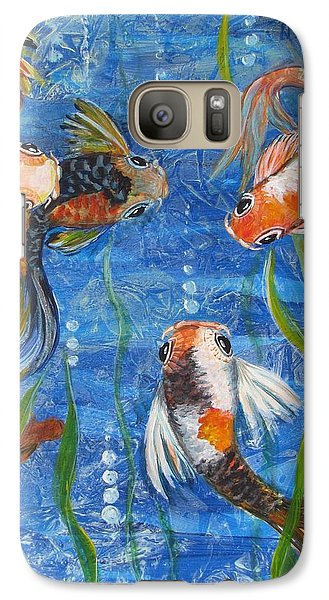 Galaxy Case featuring the painting Being Koi by Martha Ayotte