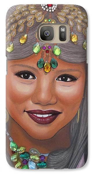 Galaxy Case featuring the painting Bejeweled Beauties - Bindiya by Malinda Prudhomme