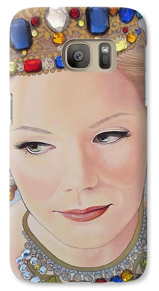 Galaxy Case featuring the painting Bejeweled Beauties - Brittany by Malinda Prudhomme