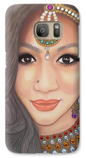 Galaxy Case featuring the painting Bejeweled Beauties - Chandni by Malinda Prudhomme