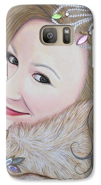 Galaxy Case featuring the painting Bejeweled Beauties - Imogen by Malinda Prudhomme