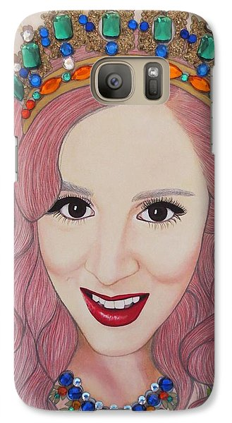 Galaxy Case featuring the painting Bejeweled Beauties - Katrina by Malinda Prud'homme