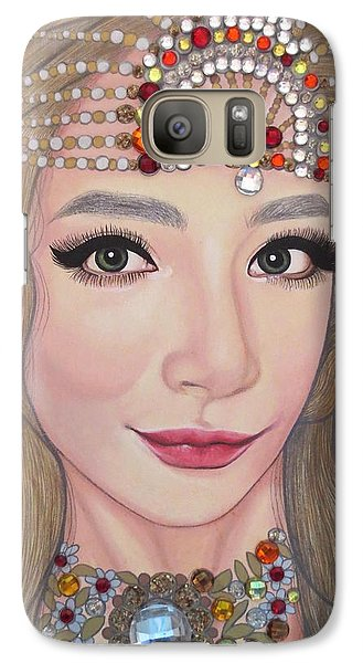 Galaxy Case featuring the painting Bejeweled Beauties - Lucy by Malinda Prudhomme