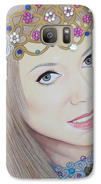 Galaxy Case featuring the painting Bejeweled Beauties - Veronica by Malinda Prudhomme