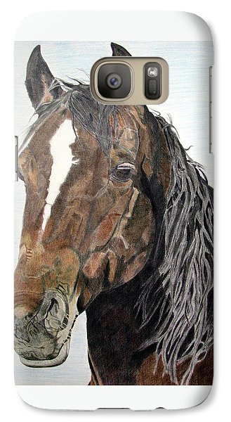 Galaxy Case featuring the drawing Bela by Melita Safran