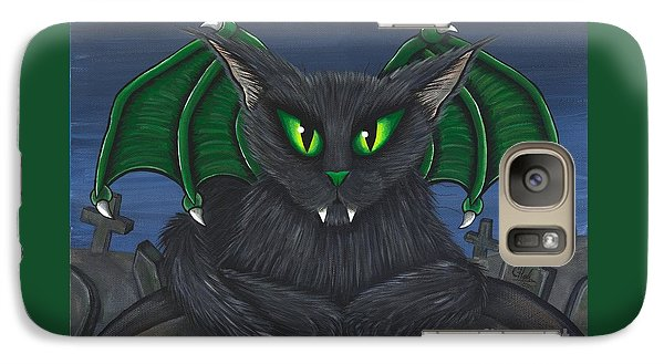 Galaxy Case featuring the painting Bela Vampire Cat by Carrie Hawks