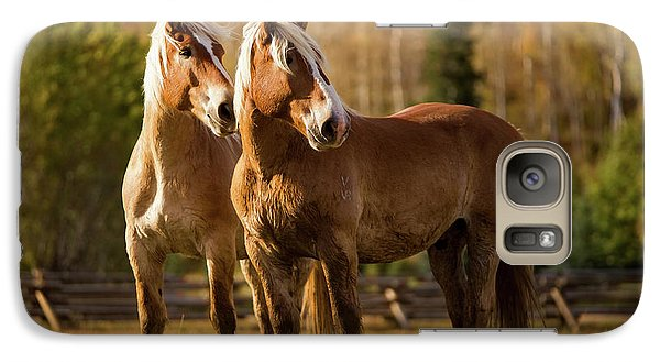 Galaxy Case featuring the photograph Belgian Draft Horses by Sharon Jones