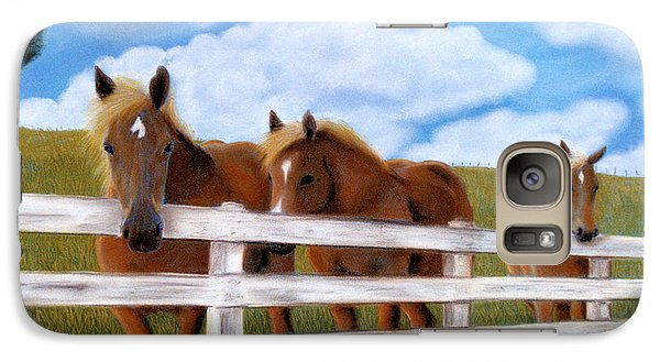 Galaxy Case featuring the pastel Belgians At Pasture by Jan Amiss