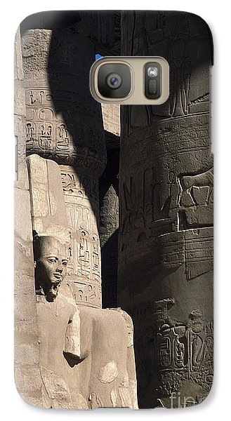 Galaxy Case featuring the photograph Belief In The Hereafter - Luxor Karnak Temple by Urft Valley Art
