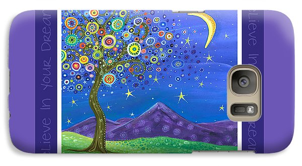 Galaxy Case featuring the painting Believe In Your Dreams - Inspire by Tanielle Childers