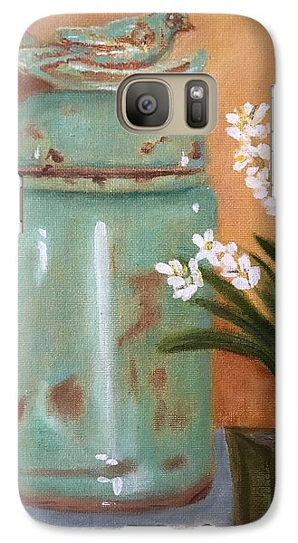 Galaxy Case featuring the painting Bell Jar by Sharon Schultz