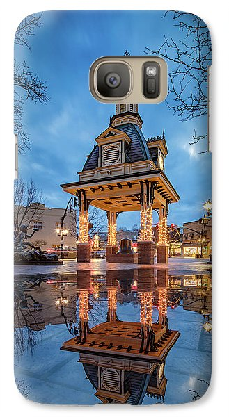 Bell Tower  In Beaver  Galaxy S7 Case by Emmanuel Panagiotakis