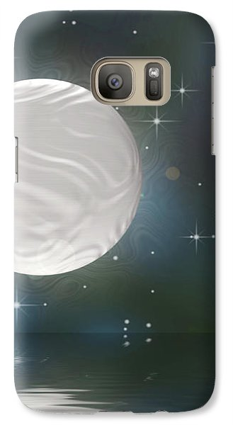 Galaxy Case featuring the digital art Bella Luna by Wendy J St Christopher