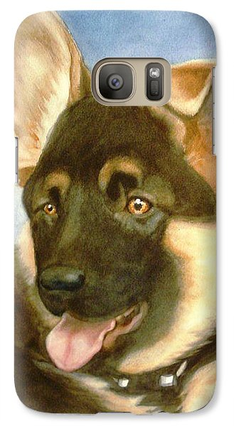Galaxy Case featuring the painting Bella by Marilyn Jacobson