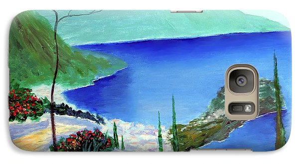 Galaxy Case featuring the painting Bella Monaco  by Larry Cirigliano