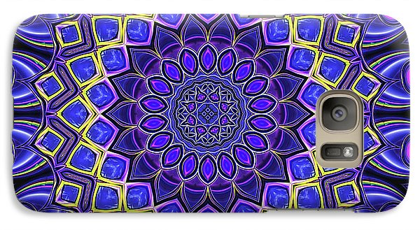 Galaxy Case featuring the digital art Bella - Purple by Wendy J St Christopher