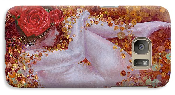 Galaxy Case featuring the painting Bella Rose by Ragen Mendenhall