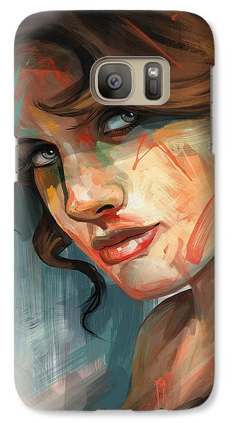 Galaxy Case featuring the digital art Belle by Steve Goad