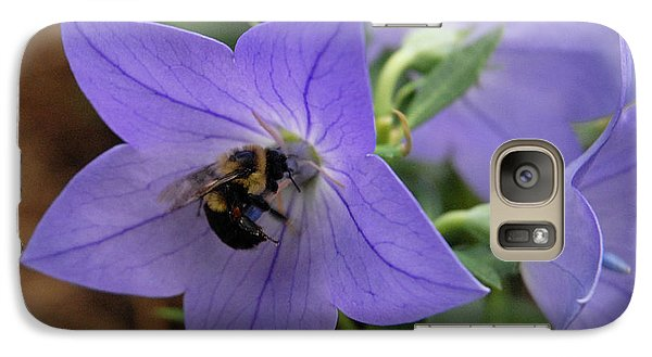 Galaxy Case featuring the photograph Bellflower And Bee  by Marie Hicks
