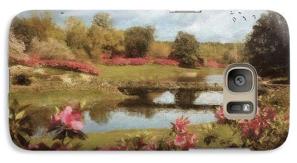 Galaxy Case featuring the digital art Bellingrath Gardens by Lianne Schneider