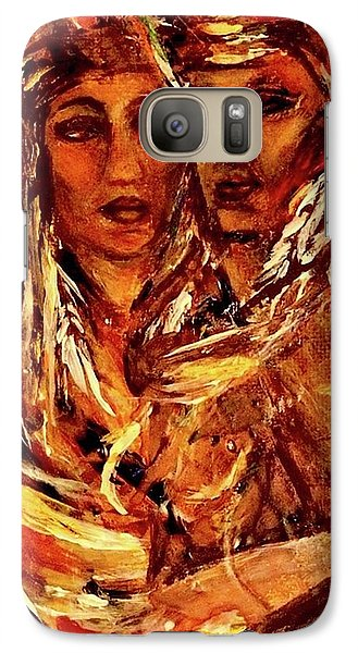Galaxy Case featuring the painting Beloved Woman by Dawn Fisher