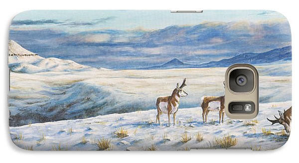 Galaxy Case featuring the painting Belt Butte Winter by Kim Lockman