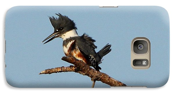 Galaxy Case featuring the photograph Belted Kingfisher  by Barbara Bowen