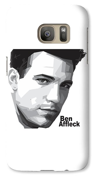 Ben Affleck Portrait Art Galaxy S7 Case by Madiaz Roby