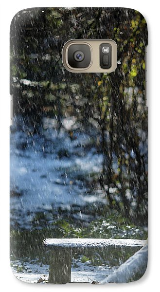 Galaxy Case featuring the photograph Bench In Snow by Rebecca Cozart