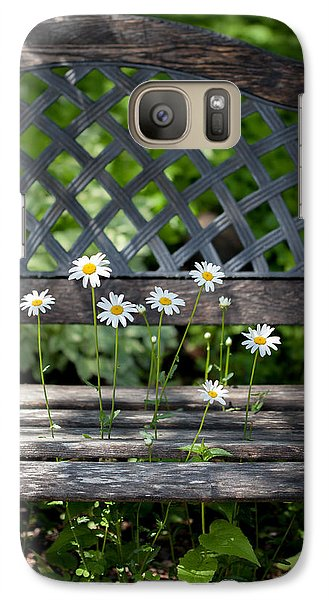 Galaxy Case featuring the photograph Benched by Aaron Aldrich