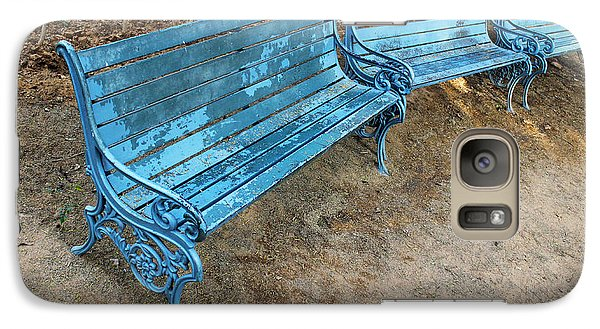 Galaxy Case featuring the photograph Benches And Blues by Prakash Ghai