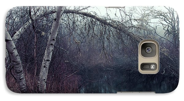 Galaxy Case featuring the photograph Bending Birch by Andrew Pacheco