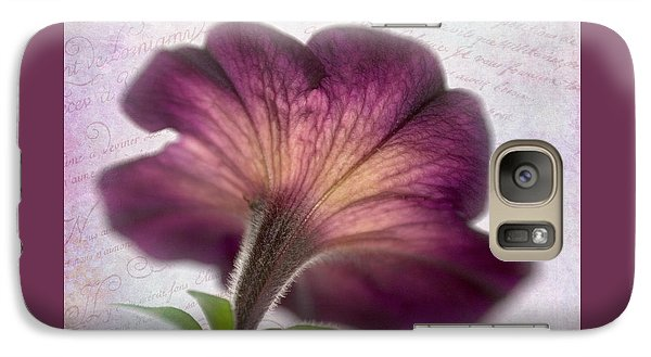 Galaxy Case featuring the photograph Beneath A Dreamy Petunia by David and Carol Kelly