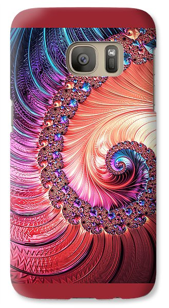 Galaxy Case featuring the digital art Beneath The Sea Spiral by Kathy Kelly
