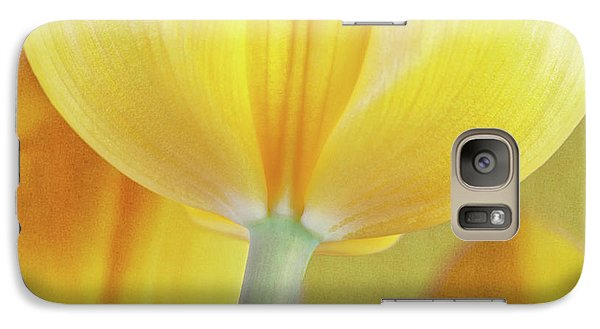 Beneath The Yellow Tulip Galaxy Case by Tom Mc Nemar