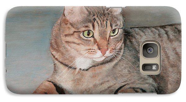 Galaxy Case featuring the painting Bengal Cat by Joshua Martin