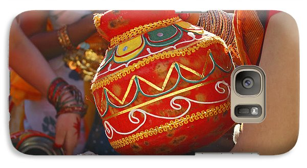 Galaxy Case featuring the photograph Bengali Maiden Dancers With Water Jars by Charline Xia